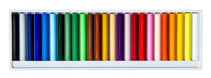 Oil pastels box royalty free stock images