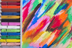 Oil pastels Stock Photography