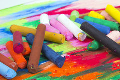 Oil pastels Stock Photo