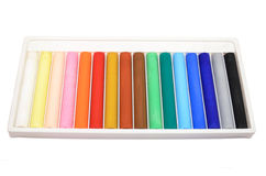 Oil pastels Stock Photos