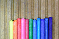 Oil Pastels. Colorful oil pastels, macro, close up Stock Image