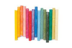 Oil pastels  organized like a rainbow Royalty Free Stock Photos