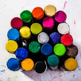 Oil Pastels on Paper Royalty Free Stock Images
