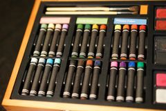 Oil pastels - rainbow of creativity Royalty Free Stock Photo