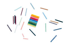 Oil pastels on a white background Stock Image