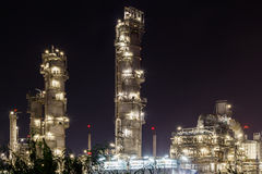 Oil petrochemical factory, plant. Oil petrochemical refinery factory, plant Royalty Free Stock Photos