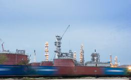 Oil petrochemical industrial plant Stock Images