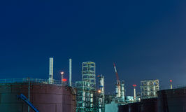 Oil petrochemical industrial plant Royalty Free Stock Photography