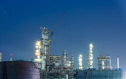 Oil petrochemical industrial plant royalty free stock photo