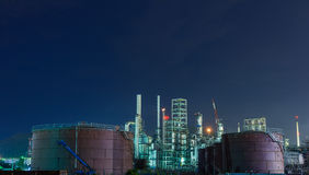 Oil petrochemical industrial plant Royalty Free Stock Photos