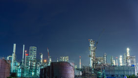 Oil petrochemical industrial plant royalty free stock images