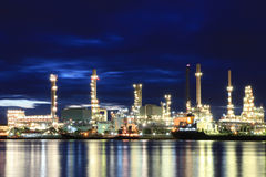 Oil Petrochemical Refinery Factory Stock Photography