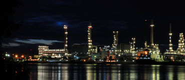 Oil Petrochemical Refinery Factory Royalty Free Stock Images