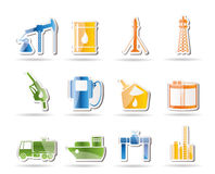 Oil and petrol industry icons Stock Images