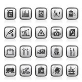 Oil and petrol industry icons. Vector icon set vector illustration
