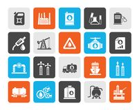 Oil and petrol industry icons. Vector icon set royalty free illustration