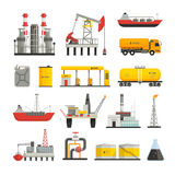 Oil Petrol Industry Icons Set Royalty Free Stock Photo