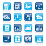 Oil and petrol industry icons Stock Photography