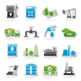 Oil and petrol industry icons Stock Image