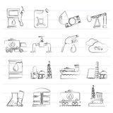 Oil and petrol industry icons Stock Photos