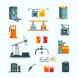 Oil and petrol industry vector objects Stock Photography