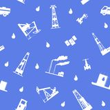 Oil and petroleum icon. Seamless. Stock Photography