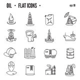 Oil and petroleum icon set, flat isolated vector illustration Royalty Free Stock Image