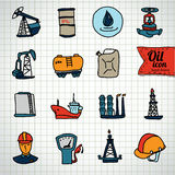 Oil and petroleum icon set, flat isolated vector illustration Stock Photo