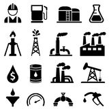 Oil and petroleum icon set Royalty Free Stock Images