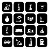 Oil and petroleum icon set. Stock Images