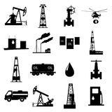 Oil and petroleum icon set. Stock Image
