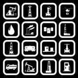 Oil and petroleum icon set. Vector illustration the oil and petroleum icon set Royalty Free Stock Photography