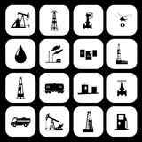 Oil and petroleum icon set. Vector illustration the oil and petroleum icon set Stock Image