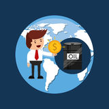 Oil and petroleum industry businessman money Stock Image