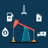Oil and petroleum industry Royalty Free Stock Image