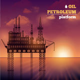 Oil Petroleum Platform Royalty Free Stock Photography