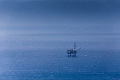 Oil petroleum platform in the sea Stock Images