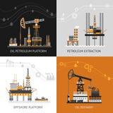 Oil Petroleum Platform Set Royalty Free Stock Photo