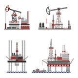 Oil Petroleum Platform Set Stock Photos