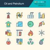 Oil and Petrolium icons. Filled outline design collection 15. For presentation, graphic design, mobile application, web design, i. Nfographics. Vector stock illustration