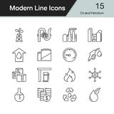 Oil and Petrolium icons. Modern line design set 15. For presenta. Tion, graphic design, mobile application, web design, infographics. Vector illustration royalty free illustration