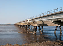 Oil pier in the North Sea Royalty Free Stock Images