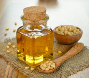 Oil of pine nuts Stock Photography