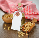 Oil of pine nuts Stock Image