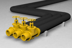 Oil pipe. Big pipe and oil factory Royalty Free Stock Images