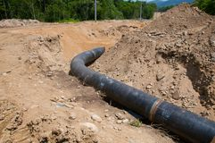 Oil pipeline. Royalty Free Stock Photo