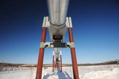 Oil pipeline in alaska Royalty Free Stock Image