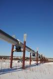 Oil pipeline in alaska Stock Photos
