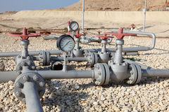 Oil pipeline in Bahrain Royalty Free Stock Photos
