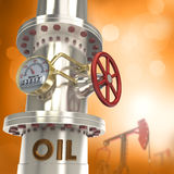Oil pipeline - concept. 3D background Stock Images